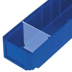 Querteiler für Regalkästen CLASSIC B 93 mm, Kunststoff, transparent, VE=25 Stück