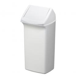 Abfall- und Wertstoffsammler mit Schwingdeckel, BxTxH 366 x 320 x 747 mm, 40 Liter, weiß