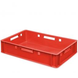 E1-Fleischkasten, LxBxH 600 x 400 x 125 mm, PE-HD, 25 Liter, rot