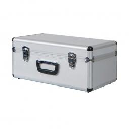 Alurahmen-Transportbox, Inhalt 25 Liter, LxBxH 475x260x210 mm, abschließbar, Farbe silber
