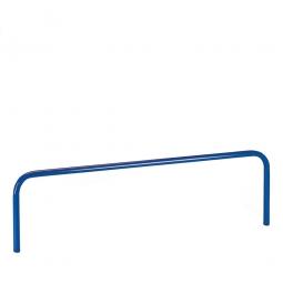 Aufsteckbügel, LxH 1705x300 mm, Stahlrohr-Ø 27 mm, Farbe blau
