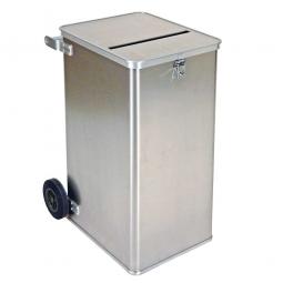 Alu-Datenentsorgungs-Behälter, Inhalt 240 Liter, LxBxH 575x690x1010 mm, Gewicht 16 kg