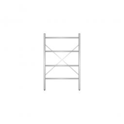 Aluminiumregal mit 4 geschlossenen Regalböden, Stecksystem, BxTxH 1000 x 500 x 1600 mm, Nutztiefe 440 mm