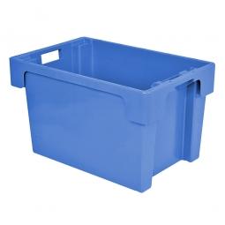 Drehstapelbehälter, PP, LxBxH 600 x 400 x 400 mm, 70 Liter, blau