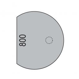 Anbautisch mit Stützfuß, Lichtgrau, BxT 800x1000 mm