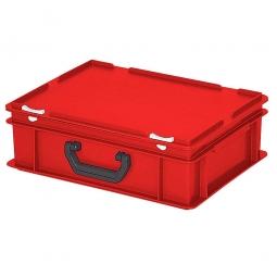 Euro-Koffer, LxBxH 400x300x130 mm, rot, mit 1 Tragegriff auf der Längsseite
