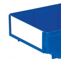 Etiketten für Regalkästen CLASSIC B 186 mm, weiß, VE=100 Stück