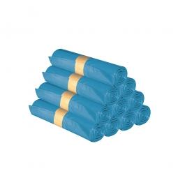 Müllsäcke, 120 Liter, Stärke 40 µm, VE 250 Stück, BxH 700x1100 mm, Polyethylen-Kunststoff (PE-HD), blau