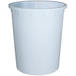 Rundtonne, 300 Liter, Ø oben/unten 755/695 mm, Höhe 885 mm, weiß