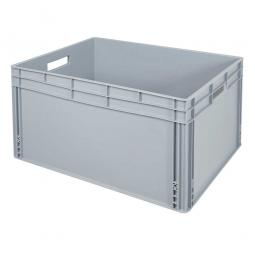 Eurobehälter mit 2 Durchfassgriffe, LxBxH 800 x 600 x 420 mm, 175 Liter, grau