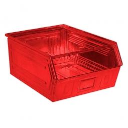 Sichtbox SB0 aus Stahlblech, 83 Liter, LxBxH 700/630 x 450 x 300 mm, rot
