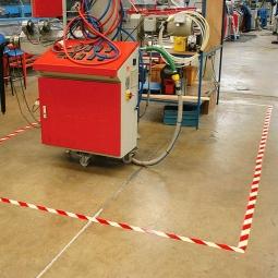 Markierungsklebeband, weiß/rot, LxB 33000x50 mm, PVC
