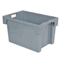 Drehstapelbehälter, PP, LxBxH 600 x 400 x 400 mm, 70 Liter, grau