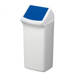 Abfall- und Wertstoffsammler mit Schwingdeckel, BxTxH 366 x 320 x 747 mm, 40 Liter, blau