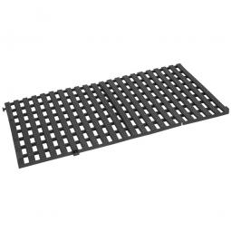 Bodenrost, schwarz, LxBxH 1150x580x30 mm, Polyurethan-Kunststoff