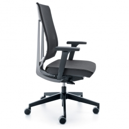 """Bürodrehstuhl """"XENON"""", Farbe schwarz/grau, Synchronmechanik mit Sitztiefenverstellung"""