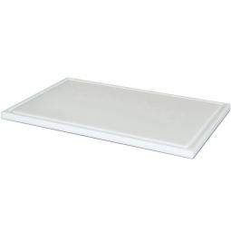 Schneidbrett aus Kunststoff, LxB 500 x 300 mm, 20 mm dick, weiß, lebensmittelecht