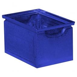 Stapelkasten ST7 aus Stahlblech, 3,6 Liter, LxBxH 200 x 140 x 130 mm, blau
