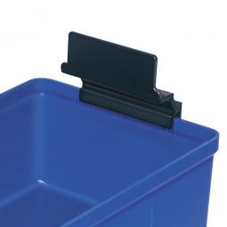 Auszugsicherung für Regalkästen CLASSIC, Kunststoff, schwarz, VE=25 Stück