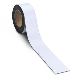 Magnetschilder: 10 m Rolle, Höhe: 40 mm, weiß, Materialstärke: 0,9 mm, für alle magnetischen Untergründe