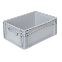 Euro-Geschirrkasten -Profi- LxBxH 400x300x170 mm, mit 2 Griffleisten, Farbe grau, Inhalt 15,9 Liter
