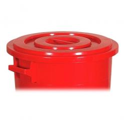 Deckel für Rundtonne 75 Liter, rot