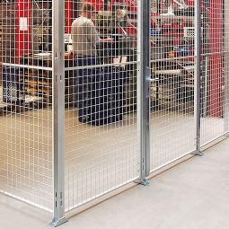 Maschinengitter-Grundelement, 3300 mm hoch, Wandbreite 400 mm