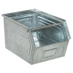 Sichtbox SB5 aus Stahlblech, 11 Liter, LxBxH 350/300 x 200 x 200 mm, feuerverzinkt