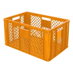 Bäckerkiste, LxBxH 600 x 400 x 320 mm, 63 Liter, orange
