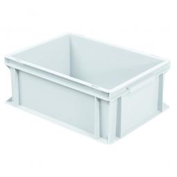 Eurobehälter mit 2 Griffleisten, LxBxH 400 x 300 x 170 mm, 16 Liter, weiß