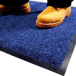 Eingangsmatte, LxB 1200x850 mm, blau, Höhe 9 mm, Mattenrücken aus Nitril-Gummi, waschbar