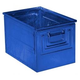 Stapelkasten ST2 aus Stahlblech, 39 Liter, LxBxH 450 x 300 x 300 mm, blau