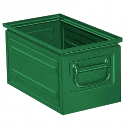 Stapelkasten ST5 aus Stahlblech, 13 Liter, LxBxH 350 x 200 x 200 mm, grün