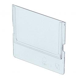 Querteiler für Klarsicht-Regalkästen B 183 mm, transparent, VE=10 Stück