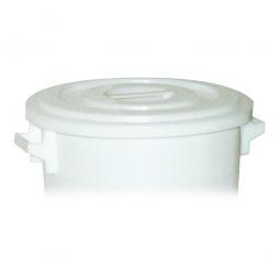 Deckel für Rundtonne 35 Liter, PE-HD, weiß