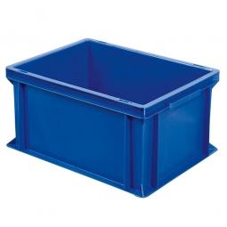 Euro-Geschirrkasten, LxBxH 400x300x220 mm, mit 2 Griffleisten, blau