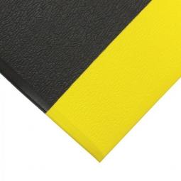 Bodenmatte, mit Strukturoberfläche, schwarz/gelb, LxB 1500x900 mm, Stärke 9 mm, Vinyl-Schaum-Belag