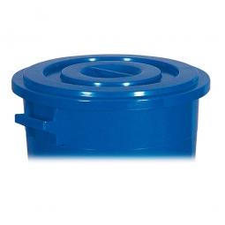 Deckel für Rundtonne 100 Liter, blau