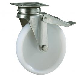 Apparate-Lenkrolle mit Feststellbremse, Rad-ØxB 100 x 27 mm, Tragkraft 90 kg