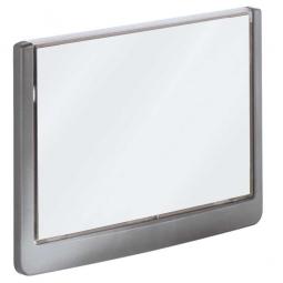 Türschild aus ABS-Kunststoff mit aufklappbarem Sichtfenster, BxH 149x105,5 mm, graphit
