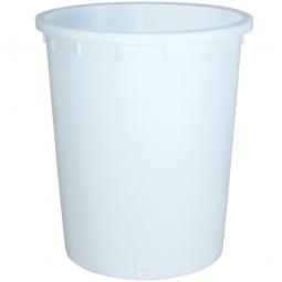Rundtonne, 200 Liter, Ø oben/unten 670/540 mm, Höhe 790 mm, weiß