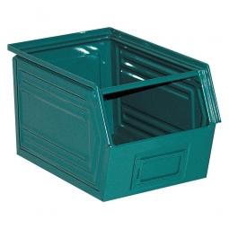 Sichtbox SB5 aus Stahlblech, 11 Liter, LxBxH 350/300 x 200 x 200 mm, blaugrün