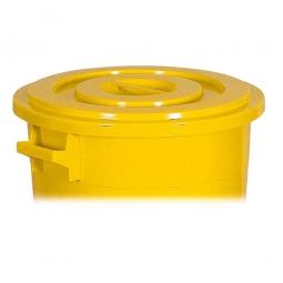 Deckel für Rundtonne 75 Liter, gelb