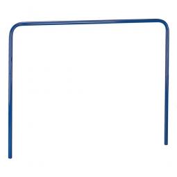 Aufsteckbügel, LxH 1305x900 mm, Stahlrohr-Ø 27 mm, Farbe blau