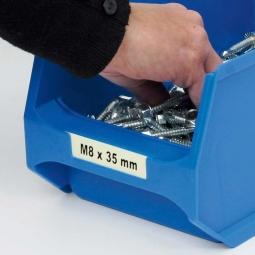 Beschriftungs-Etiketten für Sichtbox PROFI LB6, weiß, LxB 51x14 mm, VE=100 Stück