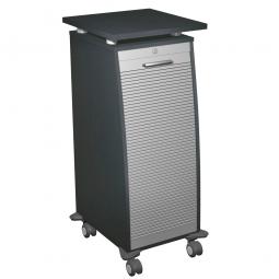 Bürocaddy mit Stahlschubladen, graphit, BxTxH 515x600x1155 mm