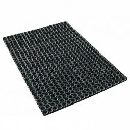Ringgummi-Schmutzfangmatte, LxB 1200x800 mm, Stärke 23 mm, langlebige Gummiqualität (12 kg/m²), schwarz