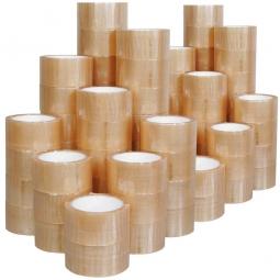 PP-Verpackungsklebeband transparent, Länge 66 m, Breite 50 mm, hohe Klebekraft, 49 µm stark, VE = 72 Rollen