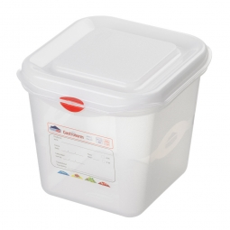 GN-Vorratsdose/Frischhaltebox GN1/6 mit Deckel, LxBxH 176 x 162 x 150 mm, 2,6 Liter