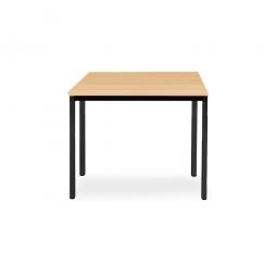 Rechtecktisch, Gestell schwarz, Platte Buche, BxTxH 800x800x720 mm